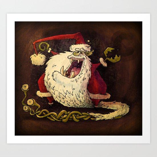 Santa Claws! Art Print