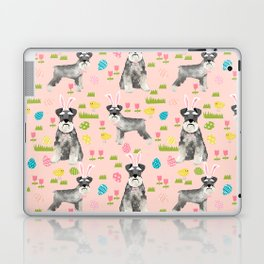 Schnauzer easter costume spring easter bunny pure breed dog pattern gifts Laptop & iPad Skin