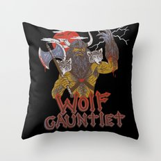 Wolf Gauntlet Throw Pillow