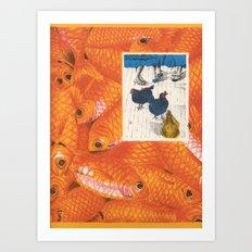 Fish 'n Chicks Art Print