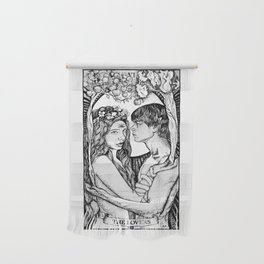 The Lovers Tarot Card Wall Hanging