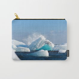 glacier vatnajokull iceland ice snow  Carry-All Pouch