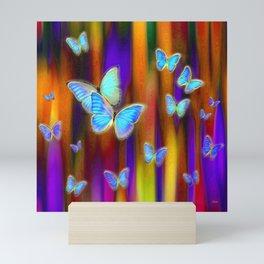 Silken Wings, Rainbow. Mini Art Print