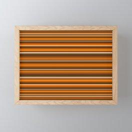 Orange brown lines Framed Mini Art Print