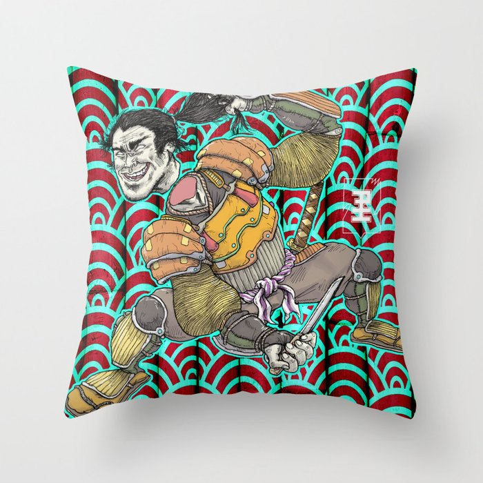 Nitta Yoshisada Throw Pillow