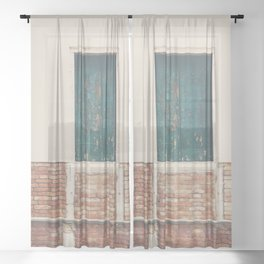 A little pop of color in Venice Sheer Curtain