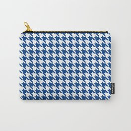 Blue Classic houndstooth pattern Carry-All Pouch
