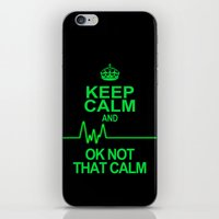 keep calm iPhone & iPod Skins featuring Keep Calm by Alice Gosling