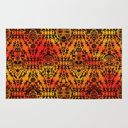 Pattern with African Mask Rug