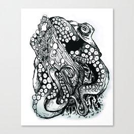 Stemonitis fungi/Octopus vulgaris Canvas Print