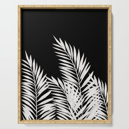 Palm Leaves White Serving Tray
