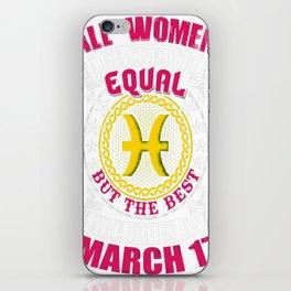 Best-Women-Born-On-March-17-Pisces---Sao-chép iPhone Skin
