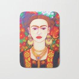 My other Frida Kahlo with butterflies Bath Mat