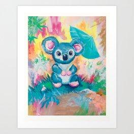 Coala acrylic painting prints Art Print