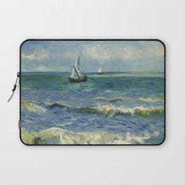 The Sea at Les Saintes-Maries-de-la-Mer by Vincent van Gogh Laptop Sleeve