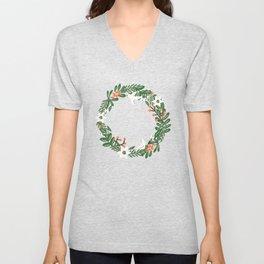 Christmas Wreath Unisex V-Neck