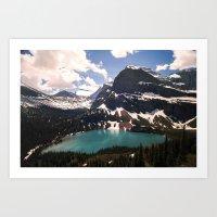 Grinnell Lake Art Print