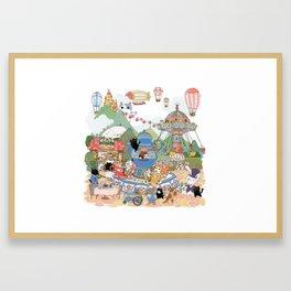 Tea cup Ride Framed Art Print