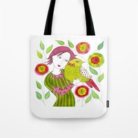 friendship Tote Bags featuring Friendship by Jessie Lilac