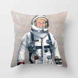 Ed White Throw Pillow