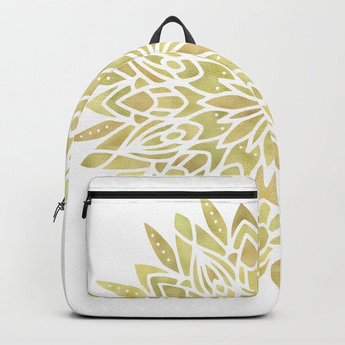 Mandala Yellow Sunflower Backpack