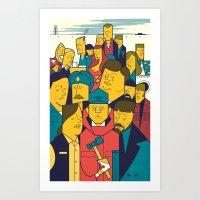 fargo Art Prints featuring Fargo by Ale Giorgini