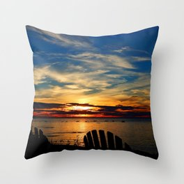 Peace and Relaxation at the Sea shore Throw Pillow