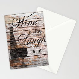 Rustic Funny Wine a Little Country Cafe Kitchen Bistro Art A635 Stationery Cards