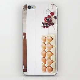 Cherries and eggs iPhone Skin