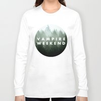 vampire weekend Long Sleeve T-shirts featuring Vampire Weekend trees logo by Elianne