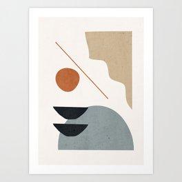 Abstract Minimal Shapes 29 Art Print