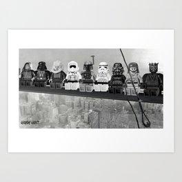 Lego starwars builders bad Art Print