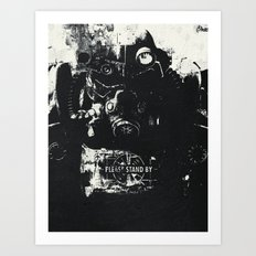 World on fire Art Print