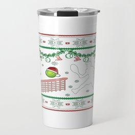 Tennis Christmas Travel Mug