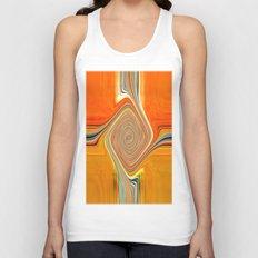 Abstract.Orange+Lemon. Unisex Tank Top