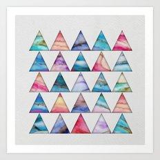 Marble Triangles 2 Art Print