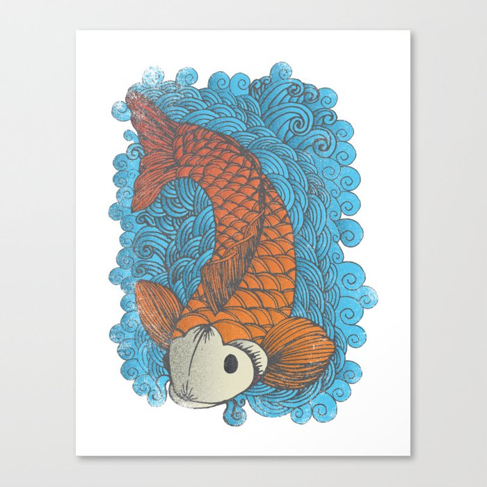 Koi canvas print by thewellkeptthing society6 for Koi prints canvas