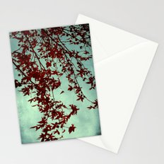 autumn red Stationery Cards