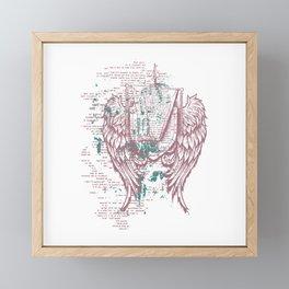 Angels Lyrics Flying Framed Mini Art Print