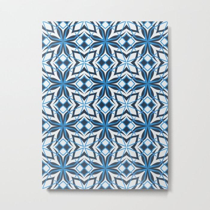 Decorative floral pattern Metal Print
