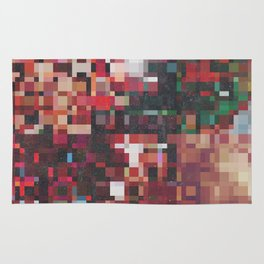 Fall Colors Pixelated Design Rug