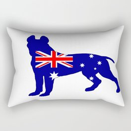 Australian Flag - Pit Bull Terrier Rectangular Pillow