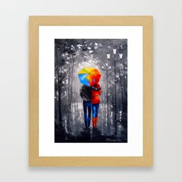 Bright walk Framed Art Print
