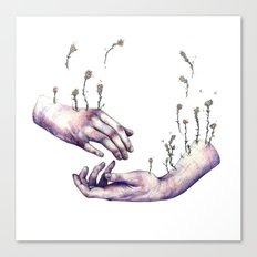 I hope one day you find someone who makes flowers grow in even the saddest parts of you Canvas Print