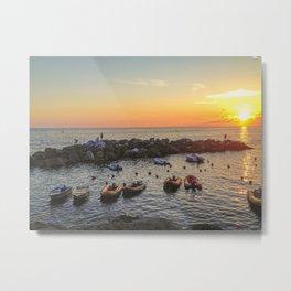 Riomaggiore at Sunset Metal Print