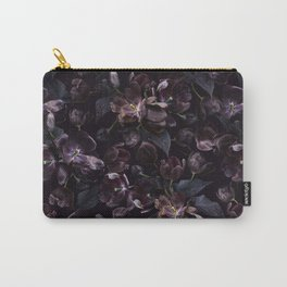 Black tulips on dark background Carry-All Pouch