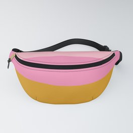 Abstract Organic Color Blocking in Pink and Honey Gold Fanny Pack