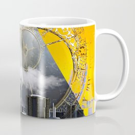 Abstract Collage City Clocks Coffee Mug