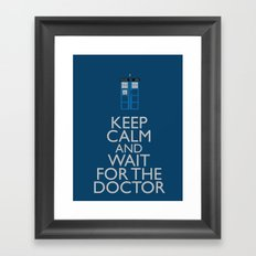 Keep Calm and wait for the Doctor Framed Art Print