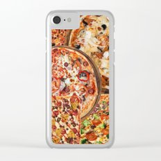 Pizza print Clear iPhone Case